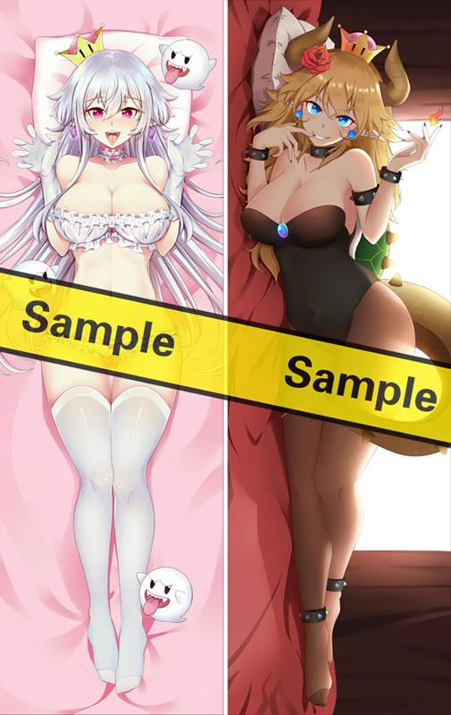 スーパーマリオブラザーズ クッパ姫&キングテレサ姫 抱き枕カバー